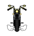 motorcycle on a white background vector image