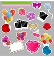 Set of scrapbook elements vector image