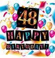48 years anniversary vector image vector image