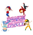 a dance party icon vector image vector image