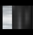 abstract metallic frame on carbon kevlar texture vector image vector image