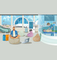 airport waiting room or lounge service vector image