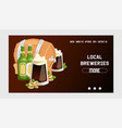 beer in beerhouse brewery web page beermug vector image
