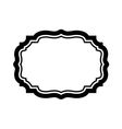 Black frame Beautiful simple design vector image