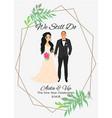 bride and groomcouple wedding card vector image vector image