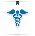 caduceus blue logo vector image vector image