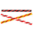 caution warning tape border vector image vector image