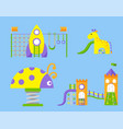 children playground fun childhood play park vector image vector image