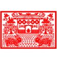 chinese new year rabbit vector image vector image