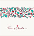 christmas and new year nature holiday pattern card vector image vector image