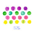 colorful watercolor spots isolated on white vector image vector image