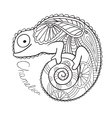 Cute chameleon in ethnic style vector image vector image