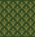 dark green background with beautiful gold ornament vector image vector image