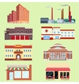 different urban industrial vector image vector image