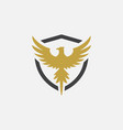 eagle shield logo vector image vector image