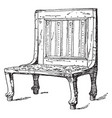 egyptian chair is treated as a frame vintage vector image vector image