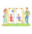family outdoor recreational activity children vector image vector image