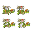 Flying Turtle with Rocket vector image vector image