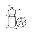 football icon design vector image