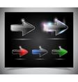 Glass arrow icon vector image vector image