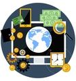 Global finance and economy vector image