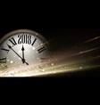 Golden 2018 new year clock background