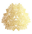 golden tribal mandala vector image vector image