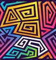 graffiti geometric seamless pattern vector image