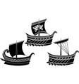 greek ships 1 vector image vector image