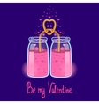 Greeting card with a love smoothies vector image