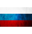 Grunge Russian flag vector image vector image