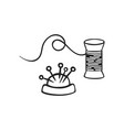 hand drawn icon thread vector image vector image