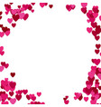 happy random heart background design - valentines vector image vector image