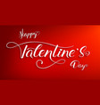 happy valentines day poster with design vector image