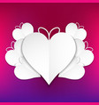 heart shape with colorful background vector image