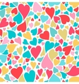 Hearts seamless pattern in pastel colors Hand vector image vector image