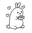 High quality cute bunny with coffee and sweets vector image vector image