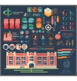 infographics for the school vector image