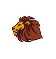 lion logo template vector image vector image
