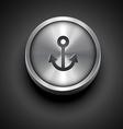 metallic anchor icon vector image vector image