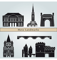 Metz landmarks and monuments vector image vector image