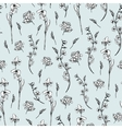 Monochrome wildflowers seamless pattern vector image vector image