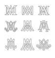 monogram of ave maria symbols set