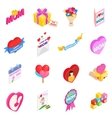 Mother Day isometric 3d icons vector image vector image