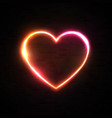 neon 80s style hearts background illuminated sign vector image vector image