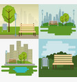 park scene outdoor icons vector image vector image