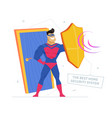 private property safety metaphor flat vector image