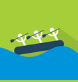 rafting icon set of great flat icons with style vector image vector image
