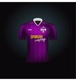 Realistic football uniform Branding mockup vector image vector image