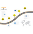 road map business timeline vector image vector image